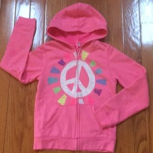 Girl's Old Navy Pink Zip-up Hoodie size L(10-12)